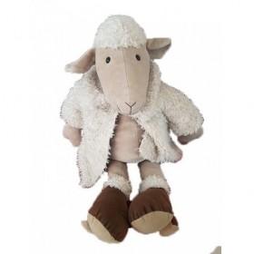 Accueil Z'autres marques Doudou Jellycat Mouton Beige manteau et sabot marron Pantin -