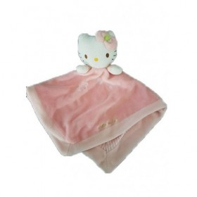 Accueil Z'autres marques Doudou hello kitty Chat Rose interieur Rayée blanc Plat -