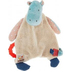 Accueil Moulin Roty Doudou moulin Roty Hippopotame Bleu Attache tétine - Les Papoums