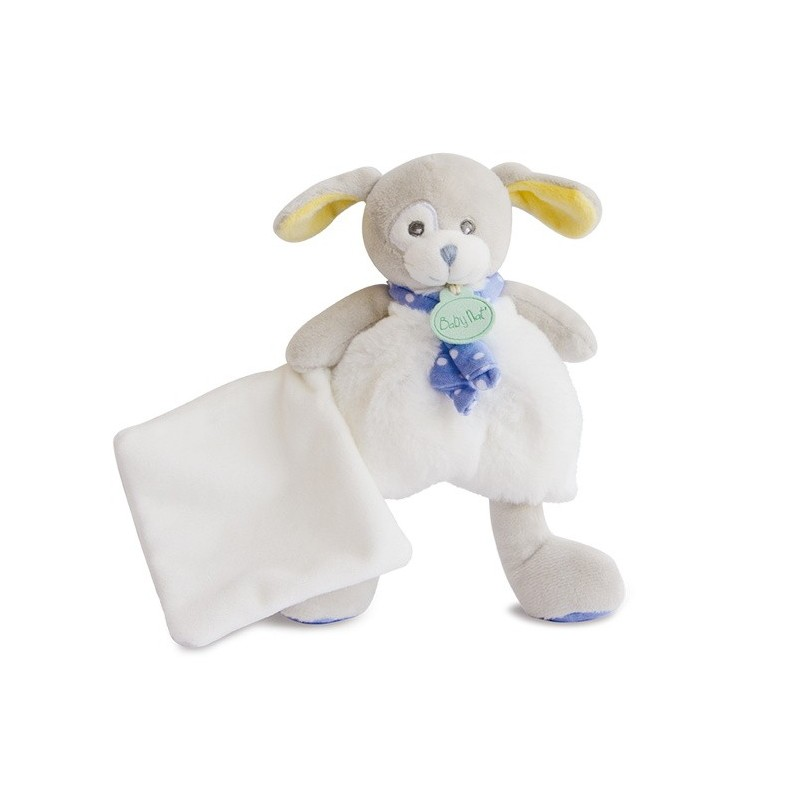 Accueil Babynat doudou Babynat Chien Blanc avec doudou 20cms BN0193 Les Poupis Pantin