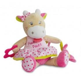 Accueil Babynat doudou Babynat Vache Rose 25cms Coquillettes Activite
