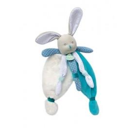 Accueil Babynat doudou Babynat Lapin Bleu BN0415 Poupi Plat