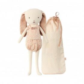 Accueil Maileg doudou Maileg Lapin Rose Bell Dans son Sac Rose Mini Pantin