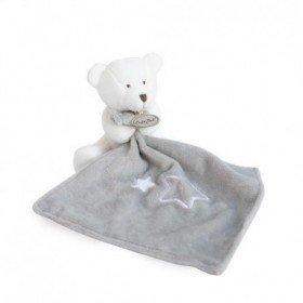 Accueil Babynat doudou Babynat Ours Blanc Mouchoir etoile Naturels Pantin