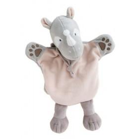 Accueil Babynat doudou Babynat Rhinoceros Gris Savane Marionnette