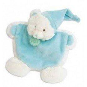Accueil Babynat doudou Babynat Ours Bleu Les Calins Plat