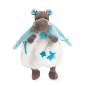 Accueil Babynat doudou Babynat Hippopotame Bleu Vert BN0362 Bazile & Zoe Plat