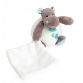 Accueil Babynat doudou Babynat Hippopotame Bleu Vert BN0361 Bazile & Zoe Pantin