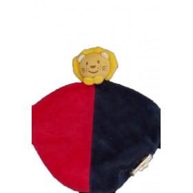 Accueil Bengy doudou Bengy Lion Bleu lion plat bleu rouge jaune plat