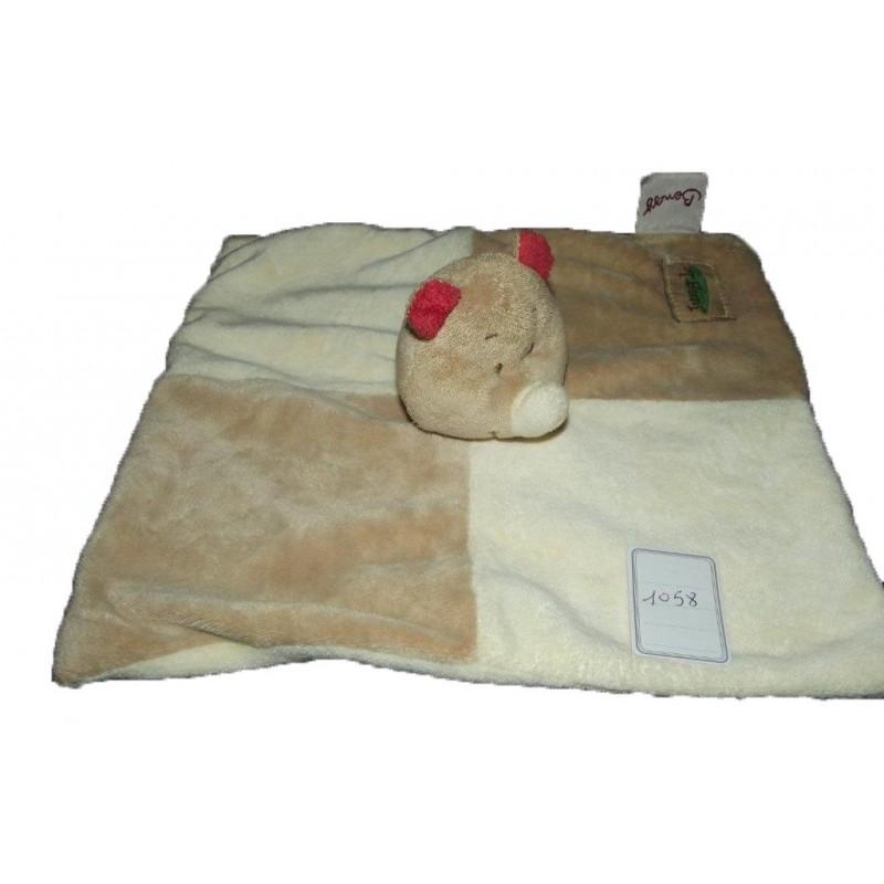 Accueil Bengy doudou Bengy Rhinoceros Beige Jungle foulard vert plat