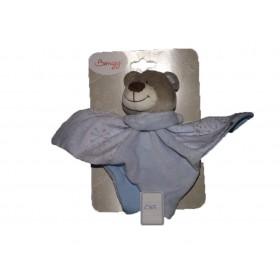 Accueil Bengy doudou Bengy Ours Bleu Robin bleu flocon de neige echarpe Plat