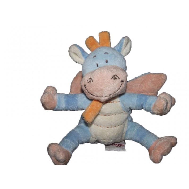 Accueil Bengy doudou Bengy Dragon Bleu foulard orange 15cms Pantin