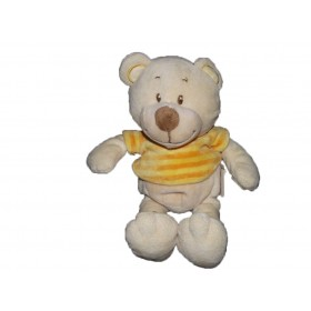 Accueil Bengy doudou Bengy Ours Orange pull rayure orange jaune Pantin