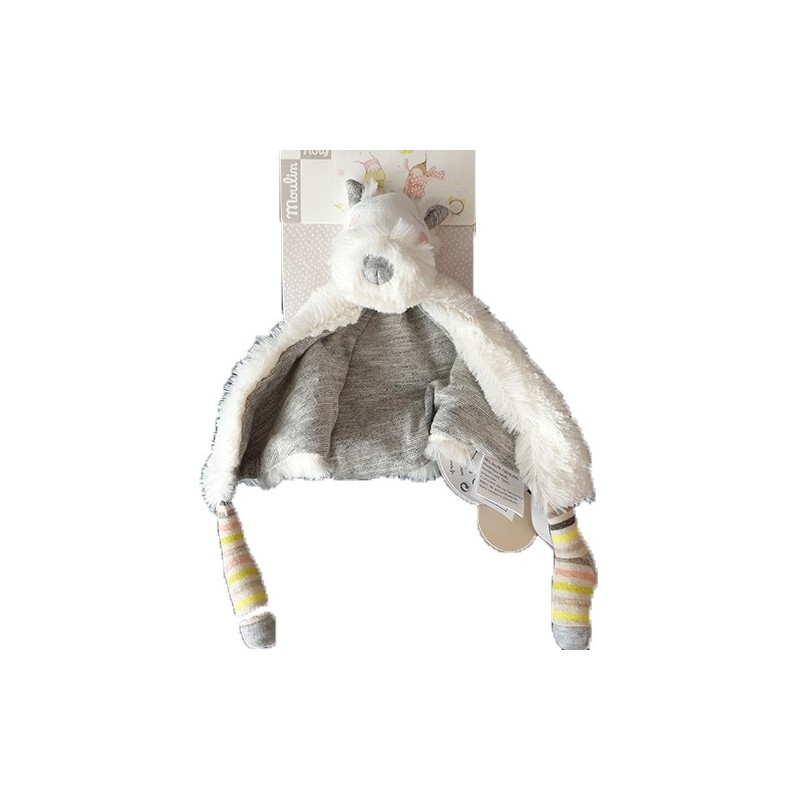 Accueil Moulin Roty Doudou moulin Roty Chien Blanc Oko Plat - Les Petits Dodos
