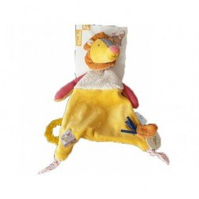 Accueil Moulin Roty Doudou moulin Roty Lion Jaune Attache tétine - Les Papoums