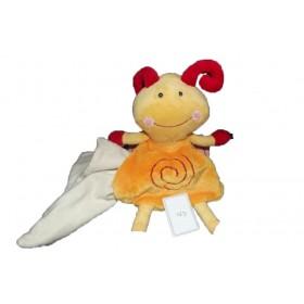Accueil C&A doudou C&A Papillon Orange pirale rouge mouchoir blanc Hochet