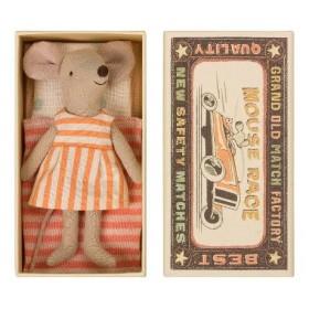 Accueil Maileg doudou Maileg Souris Orange Big Sister Souris dans une boite d'alumette Mini Pantin