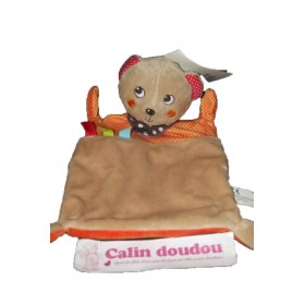 Accueil C&A doudou C&A Ours Marron foulard pois orange et rouge plat
