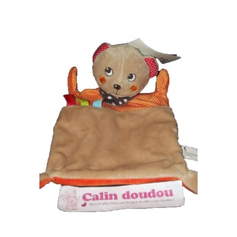 Accueil C&A doudou C&A Ours Marron foulard pois orange et rouge plat