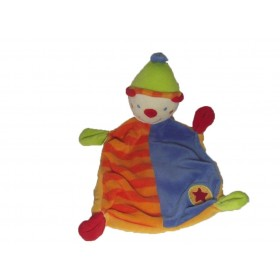 Accueil C&A doudou C&A Clown Orange bleu etoile rouge plat
