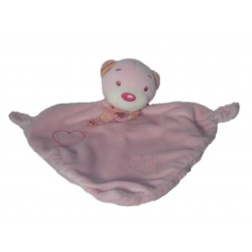 Accueil C&A doudou C&A Ours Rose foulard rayure plat