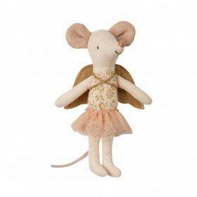 Accueil Maileg doudou Maileg Souris Or Angel Mouse, Big Sister Mini Pantin