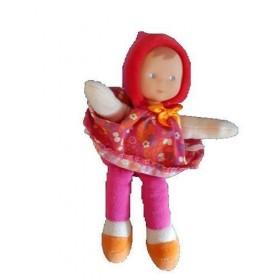Accueil Corolle doudou Corolle Poupee Rose Robe Fleur Bonnet 22cms Pantin