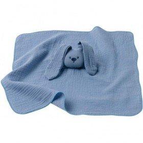 Accueil Nattou Doudou Nattou Lapin Bleu Plat - Lapidou lange