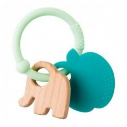 Doudou Nattou Elephant Vert Pomme  Anneau de dentition - Lapidou