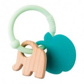 Accueil Nattou Doudou Nattou Elephant Vert Pomme Anneau de dentition - Lapidou