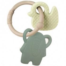 Accueil Nattou Doudou Nattou Elephant Vert Anneau de dentition - Lapidou