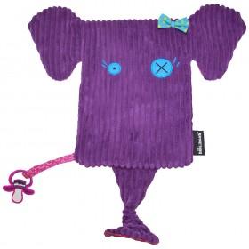 Accueil Deglingos doudou Deglingos Elephant Violet Sandykilos Maxi Maxi Doudou Plat