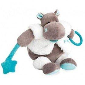 Accueil Babynat Doudou Babynat Hippopotame Bleu Activité - Bazile