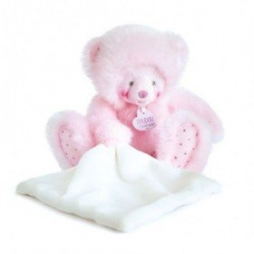 Accueil Doudou et Compagnie Doudou Doudou et compagnie Ours Rose avec mouchoir pantin - Trop Mimi