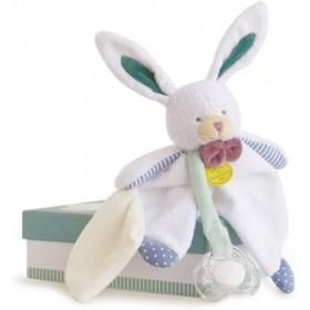 Accueil Doudou et Compagnie Doudou Doudou et compagnie lapin Blanc Attache tétine - Les Ptitous