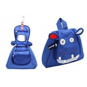 Accueil Deglingos doudou Deglingos Hippopotame Bleu Hippipos Trousse de Toilette