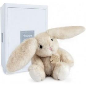 Accueil Histoire d'ours Doudou Histoire d'ours Lapin Blanc Pantin - Fluffy
