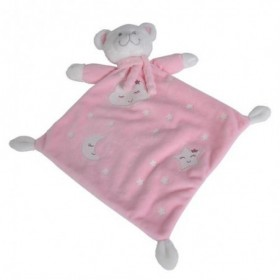 Accueil Nicotoy Doudou Nicotoy Ours Rose Plat - Boone Glow