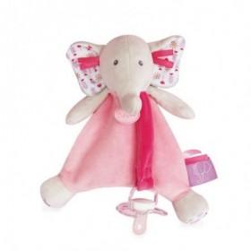 Accueil Babynat Doudou Babynat Elephant Rose Attache tétine - Edgar & Eglantine