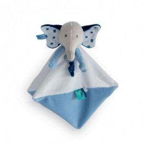 Accueil Babynat Doudou Babynat Elephant Bleu Plat - Edgar & Eglantine