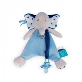 Accueil Babynat Doudou Babynat Elephant Bleu Attache tétine - Edgar & Eglantine