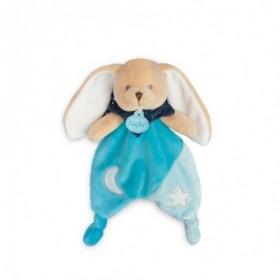 Accueil Babynat Doudou Babynat Lapin Bleu Plat - Les Luminescents