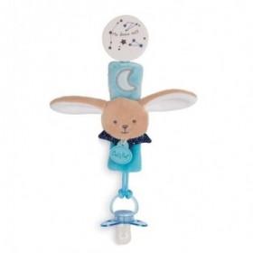 Accueil Babynat Doudou Babynat Lapin Bleu Attache tétine - Les Luminescents