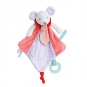Accueil Babynat Doudou Babynat Souris Rose Activité - Les Super Doudous