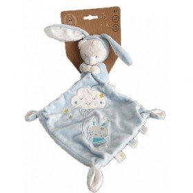 Accueil Z'autres marques Doudou Max & Sax Lapin Bleu mouchoir nuage etoiles Pantin -