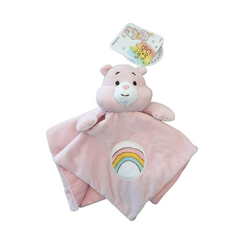 Doudou Care Bears Ours Rose  Plat - Bisounours