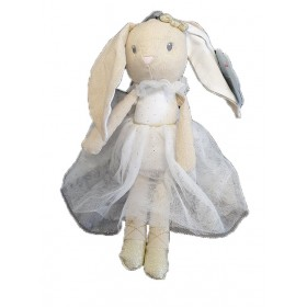 Accueil Nicotoy Doudou Nicotoy Lapin Blanc Robe Pantin - Ballerina