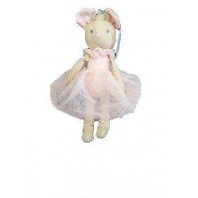 Accueil Nicotoy Doudou Nicotoy Souris Rose Robe Pantin - Ballerina