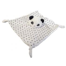 Accueil Z'autres marques Doudou Z'autres marques Panda Blanc Croix noir Plat -