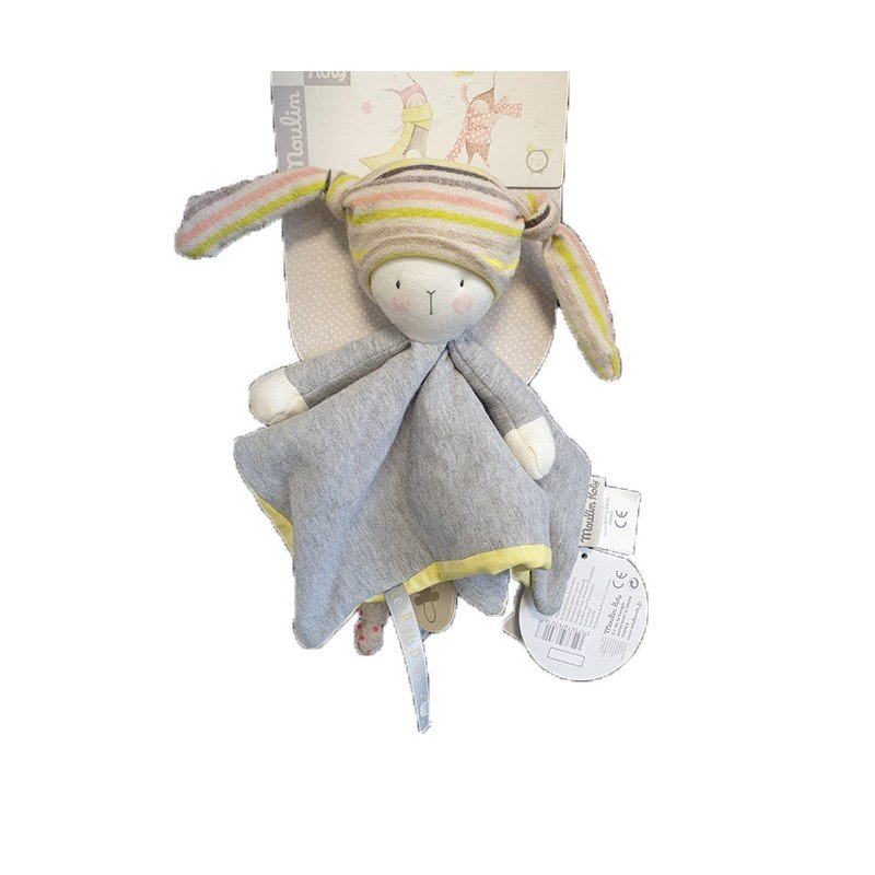 Accueil Moulin Roty Doudou moulin Roty Lapin Gris Plat - Les Petits Dodos